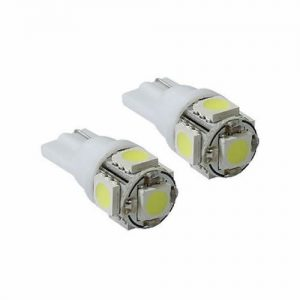 Lâmpada Led Branca Esmagada 5 Leds Veículos 12 Volts – 43-LED01
